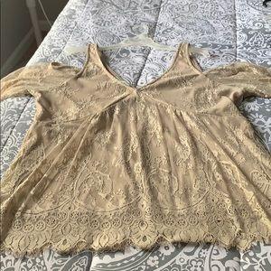 Lace beige blouse